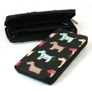 Black Westie Cotton Purse