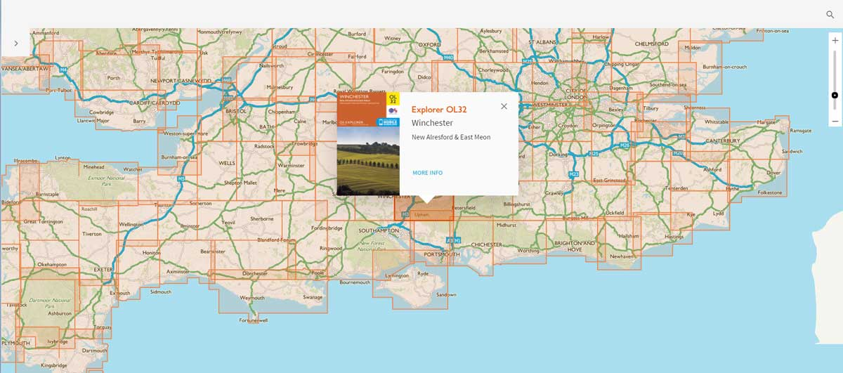 The Map Sheet finder helps visitors find the best map easily