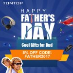 Get Extra 8% off for tomtop Father day promotion