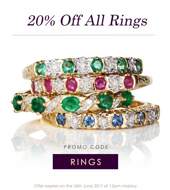 20% Off Rings at Gemondo Jewellery