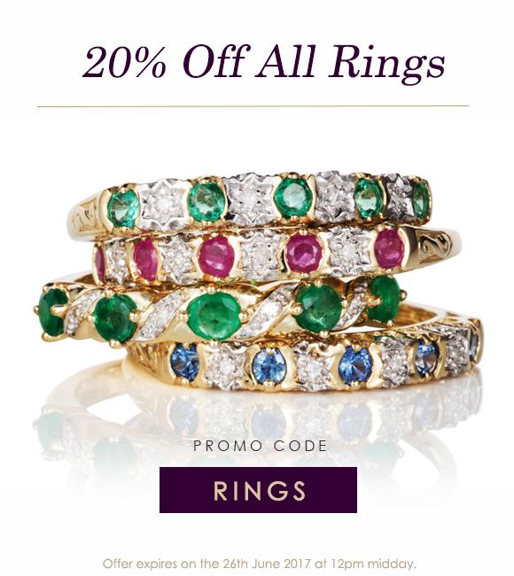 20% Off Rings at Gemondo Jewellery