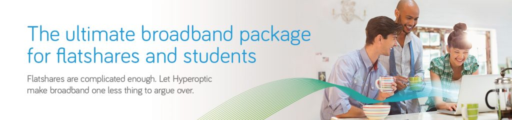 Flatshares and students broadband package