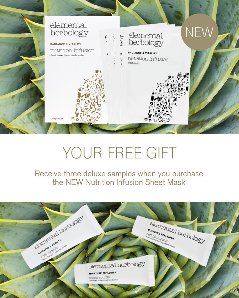 Nutrition Infusion Sheet Mask and Samples
