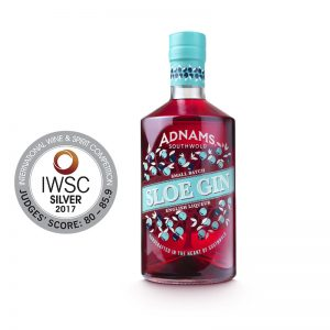 Adnams Sloe Gin and medals