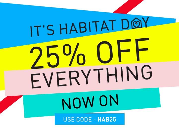 habitat 25 off everything black friday boxing day. Black Bedroom Furniture Sets. Home Design Ideas