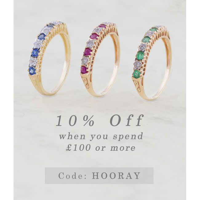 10% off with £100 spend at Gemondo jewellery