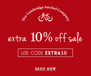 Extra 10% off of sale prices at the Cambridge Satchel Company with discount code EXTRA10