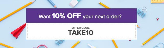 Discount Code: TAKE10