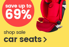 Save up to 69% on car seats