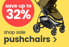 Save up to 32% on pushchairs