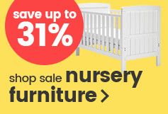 Save up to 31% on nursery furniture