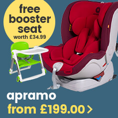 Free table booster seat with Apramo car seats
