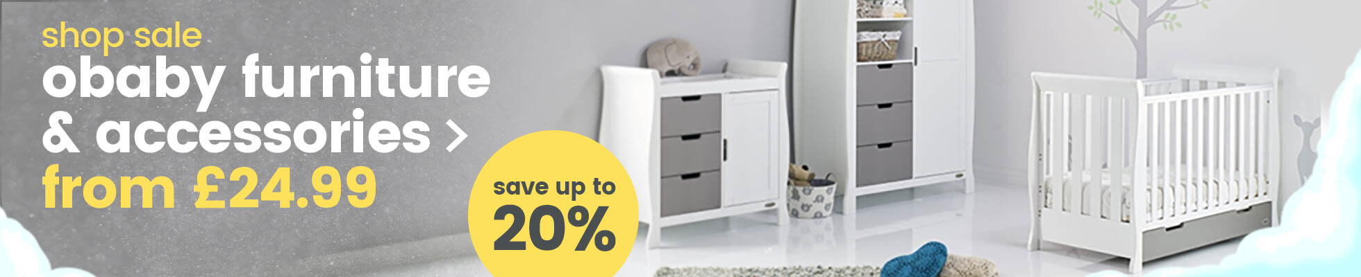 Save up to 20% on Obaby furniture & accessories