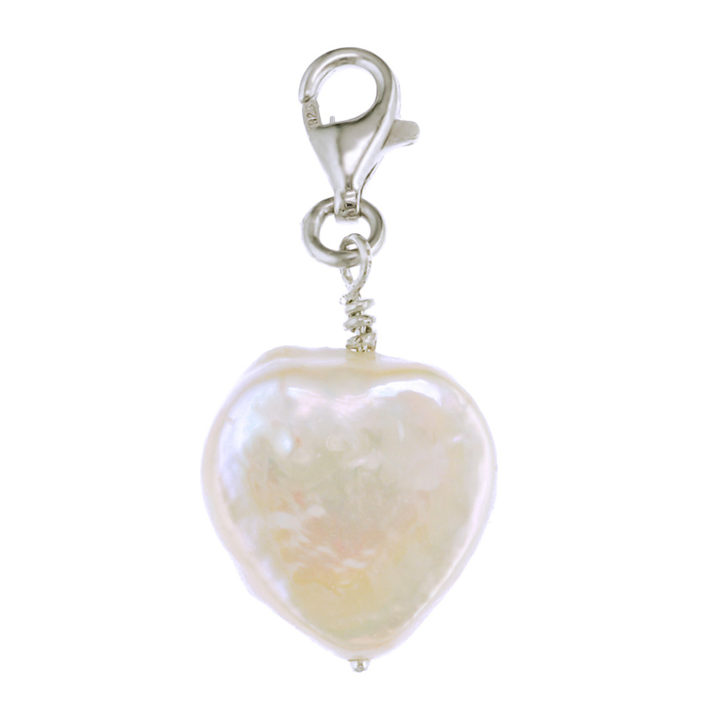 Simple heart shaped pearl for everyday perfect gift for Mothers Day