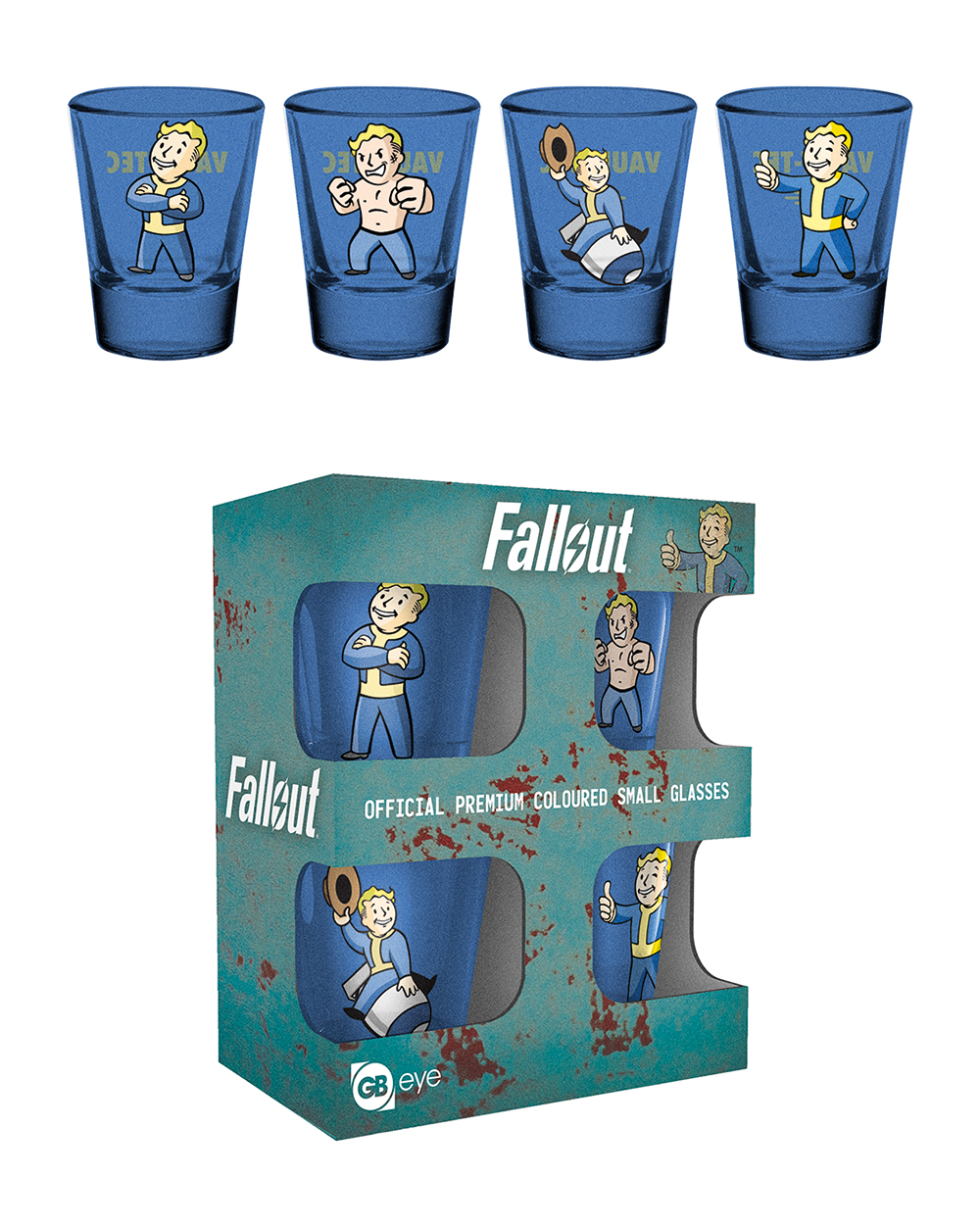 Fallout coloured shot glasses gifting