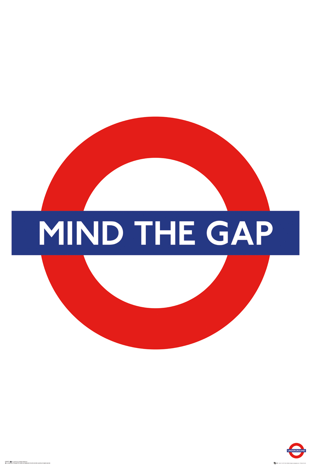 TFL mind the gap maxi poster