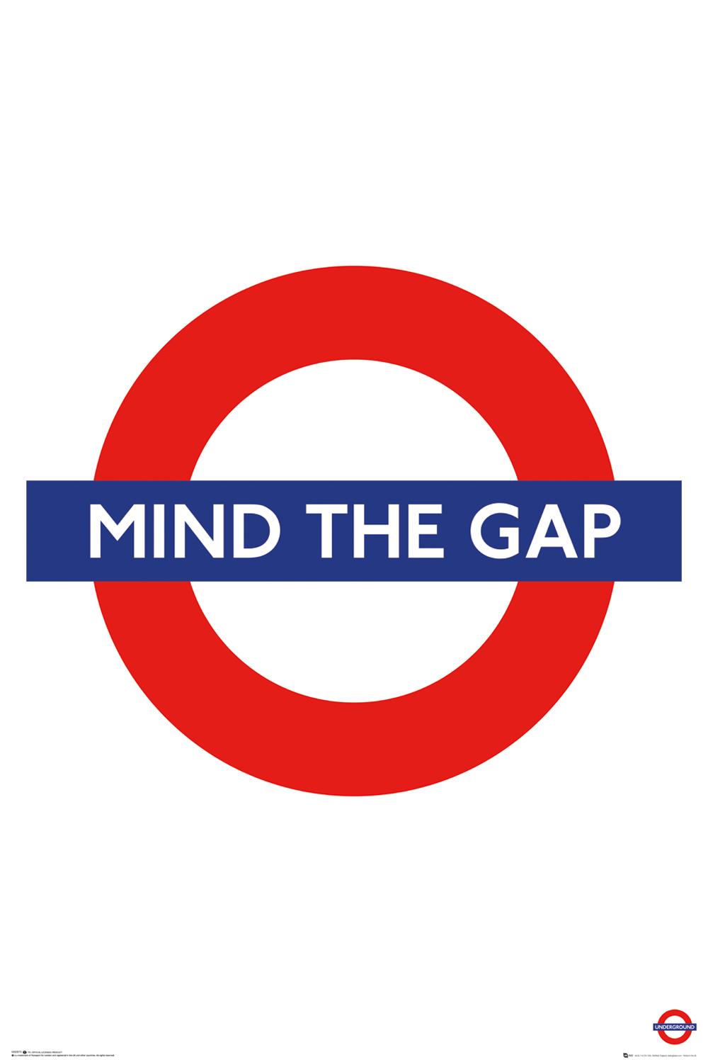 TFL mind the gap maxi poster