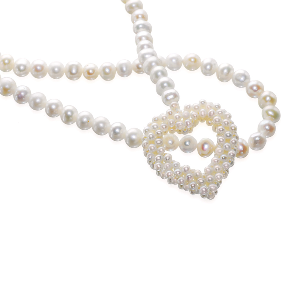 Extravagant heart of pearls perfect gift for Mothers Day
