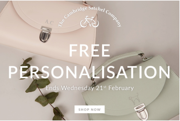 Psst…we're offering free personalisation!