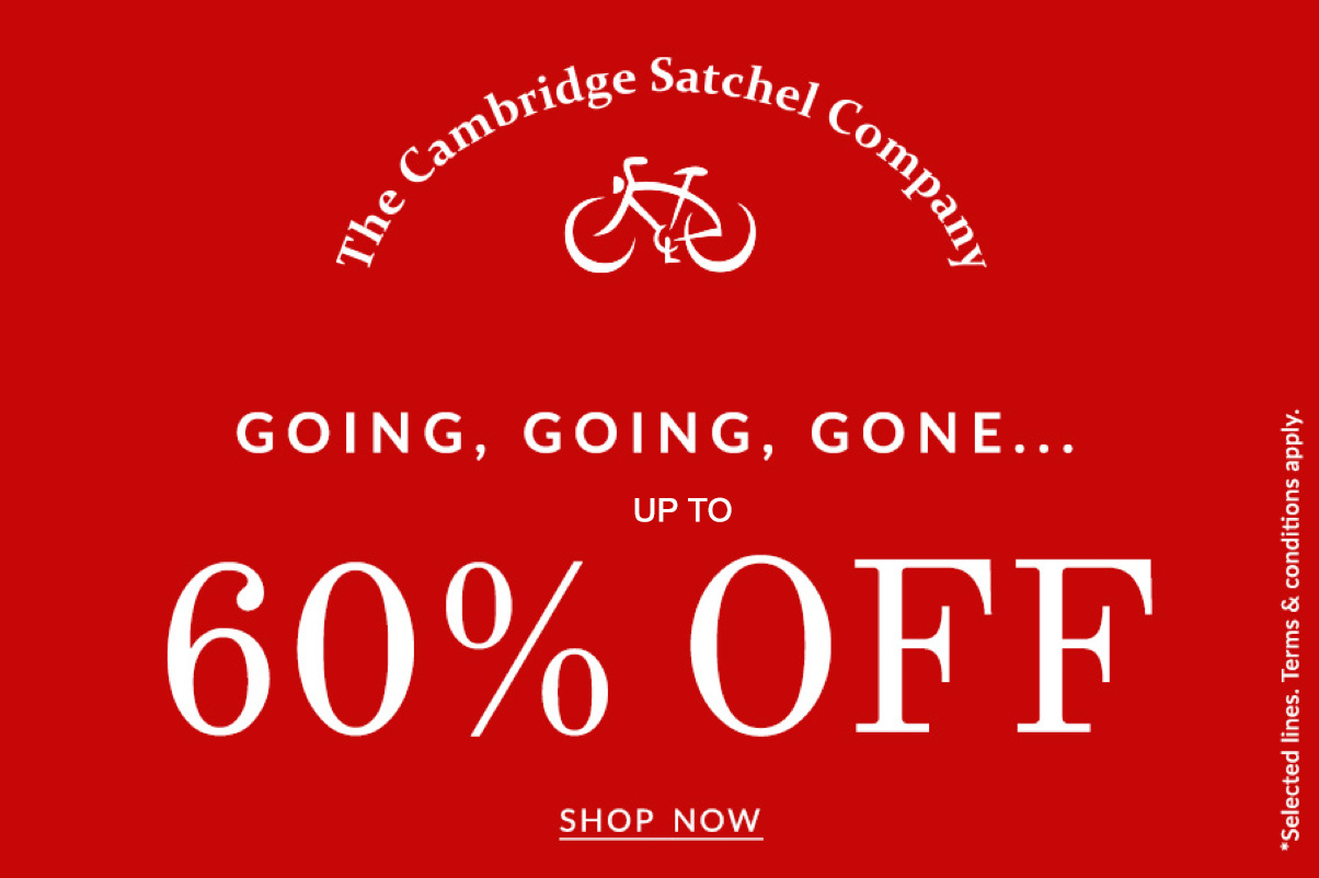 Save up to 60% this weekend at The Cambridge Satchel Company