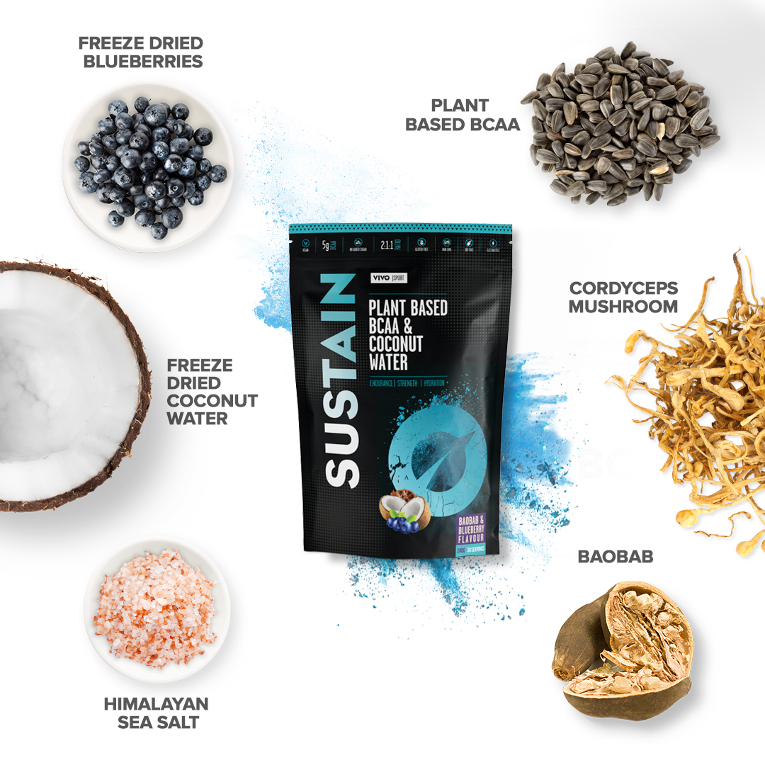 Sustain - plant based BCAA with freeze dried coconut water