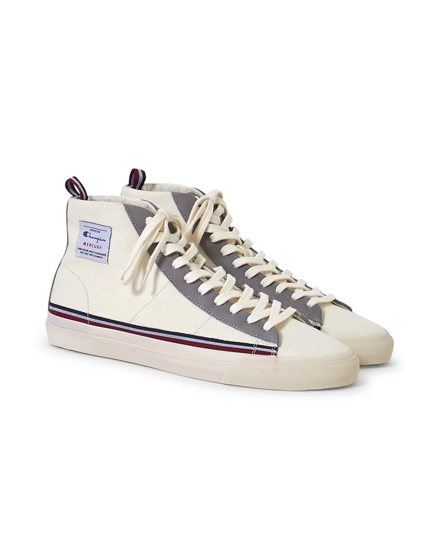ed93cfd5e01 Champion - Mid Cut Mercury Canvas Trainer White - £80.00
