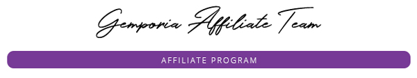 Gemporia Affiliate Program Header