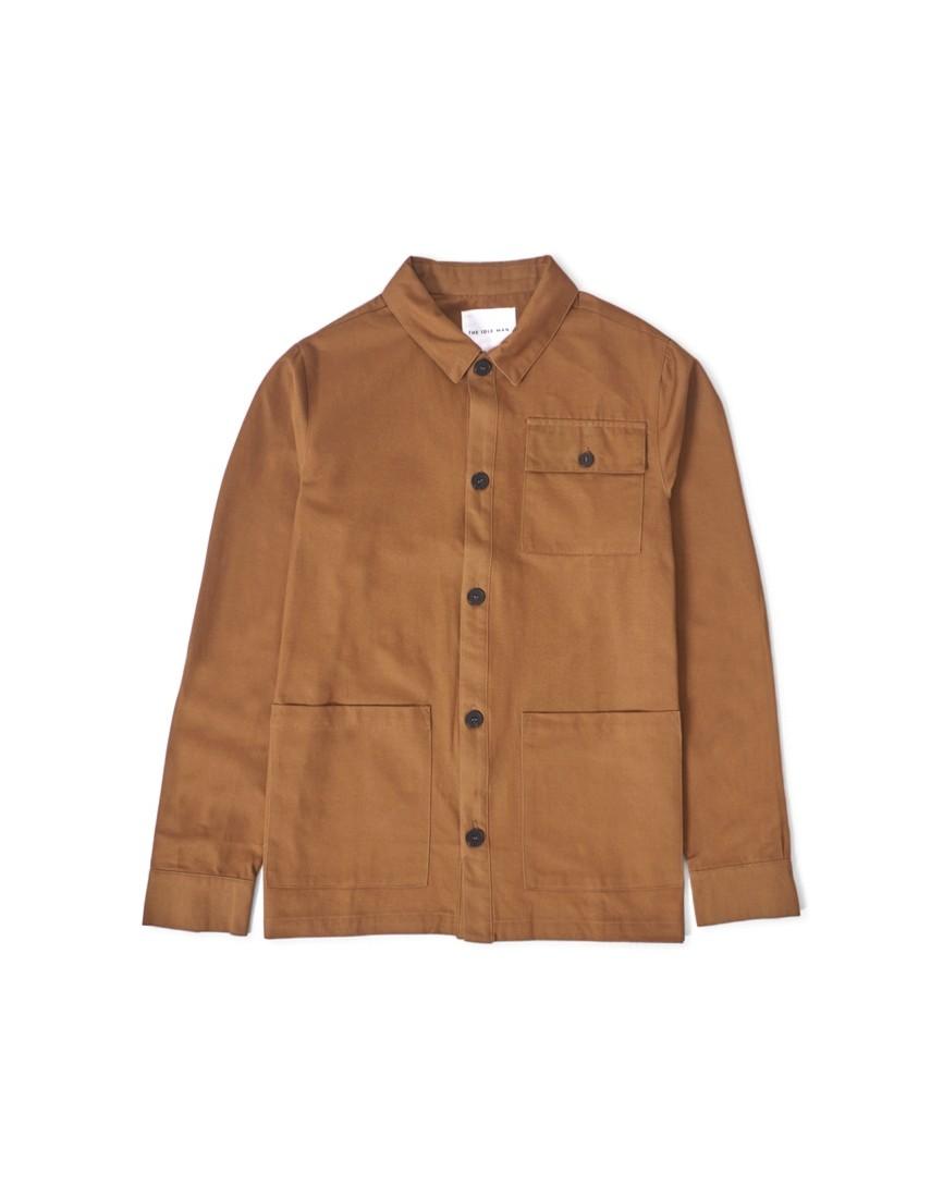 02efd9fb84e The Idle Man - 3 Pocket Chore Jacket Brown - £50.00