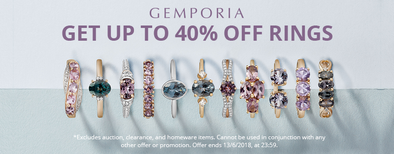 Get up to 40% Off rings at Gemporia.com this week!