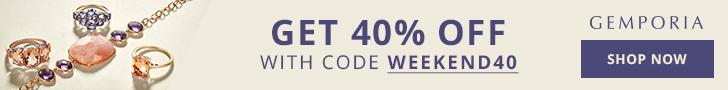 Sitewide Offer Banner | 40% Off at Gemporia.com