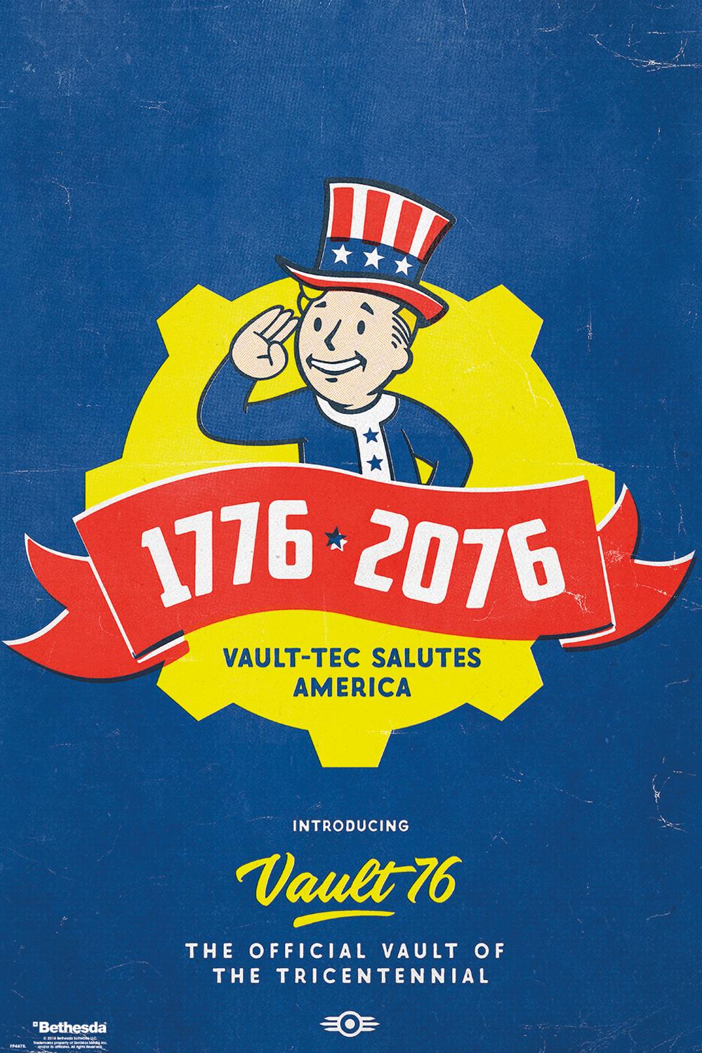 Fallout 76 tricentennial poster