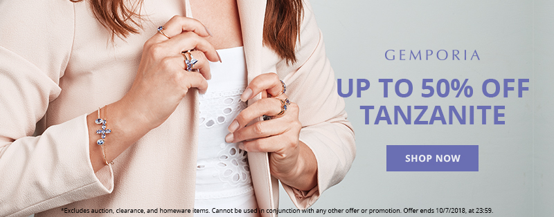 Get up to 50% Off Tanzanite Jewellery at Gemporia.com