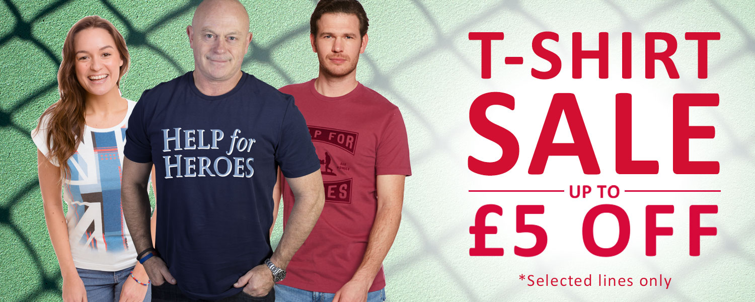 Help for Heroes T-Shirt Sale