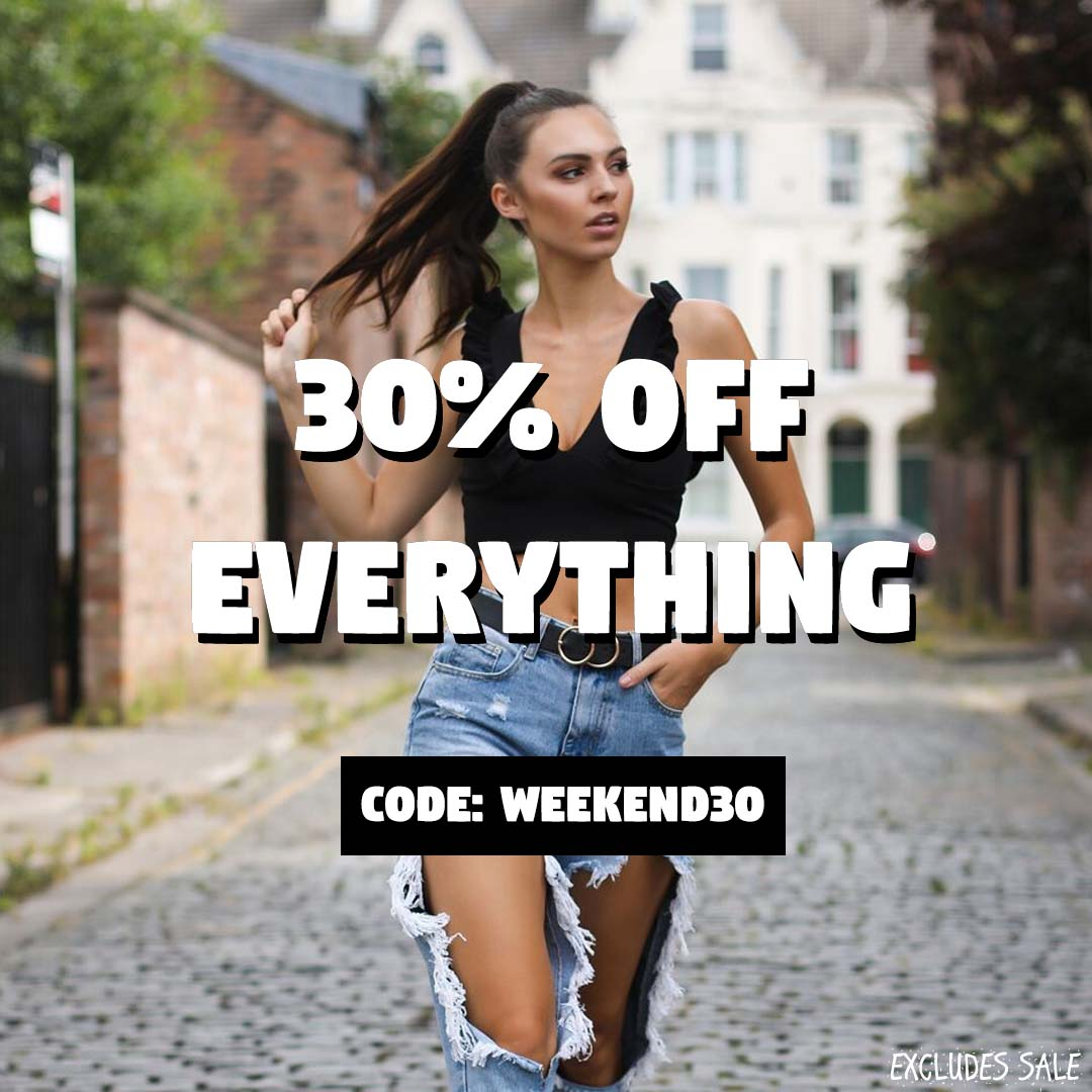 Be Jealous - 30% off everything! Code:WEEKEND30