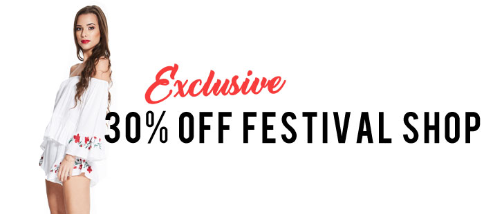 30% off Madam Rage festival Shop