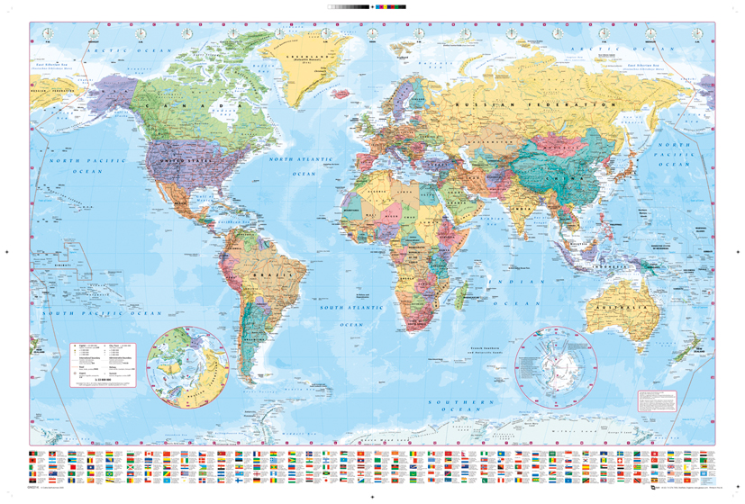 Harper Collins World Map poster