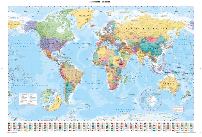 Harper Collins World Map poster