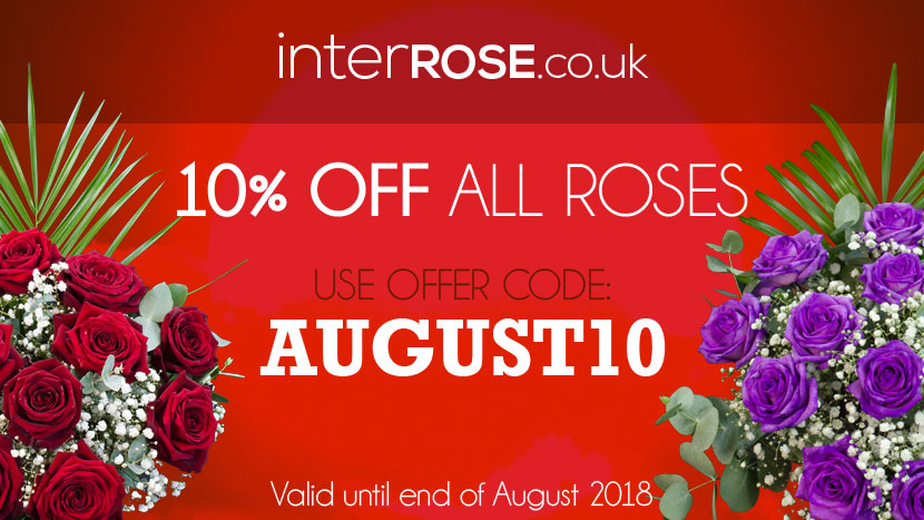 Save 10% with interROSE.co.uk