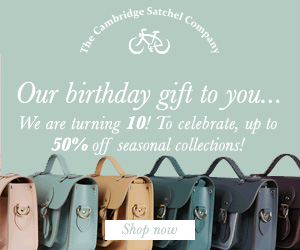Save up to 50% at The Cambridge Satchel Company
