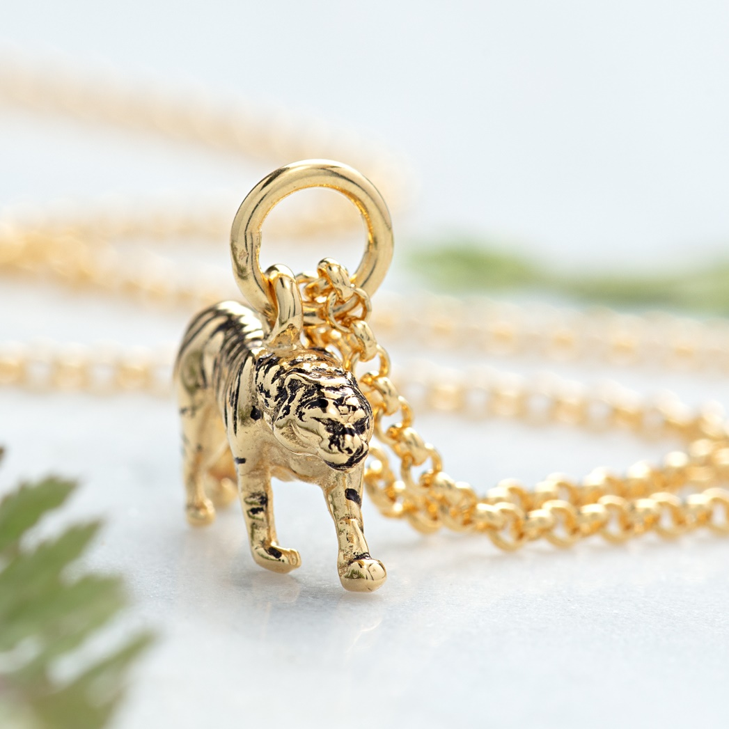 Gold Tiger Necklace by Lily Charmed
