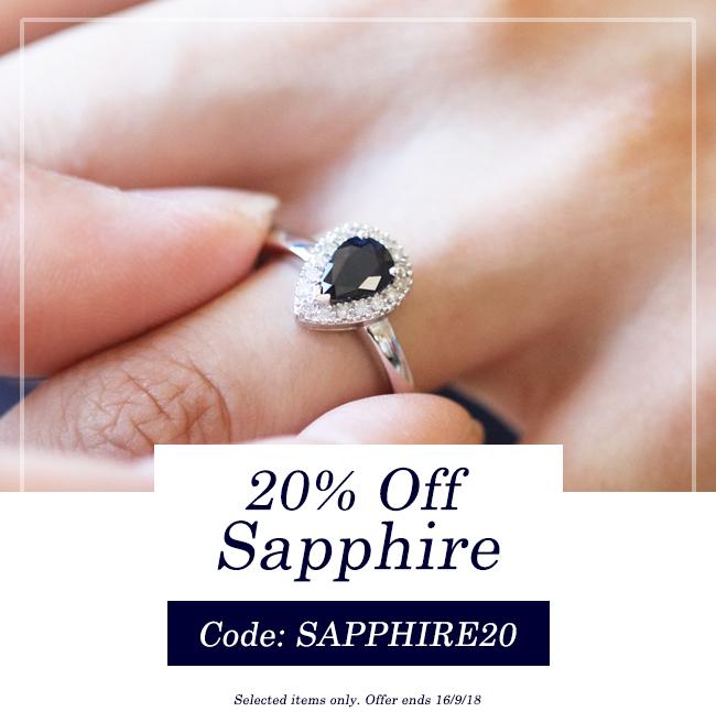 20% off sapphire jewellery