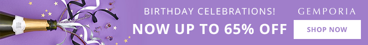 Up To 65% Off at Gemporia.com for our 14th Birthday celebrations.
