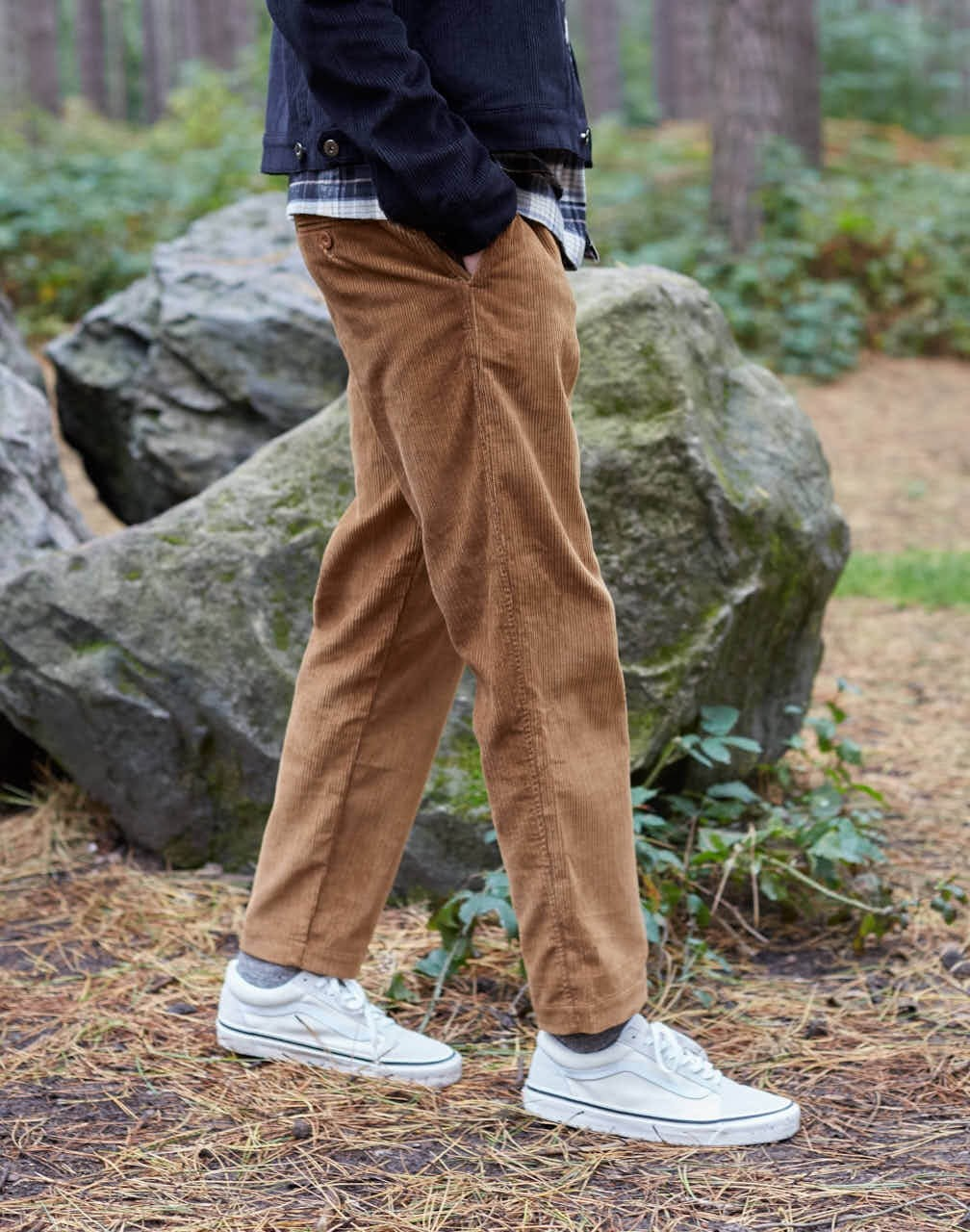 b3ee714b6a The Idle Man - Relaxed Cord Trouser Tan - £50.00