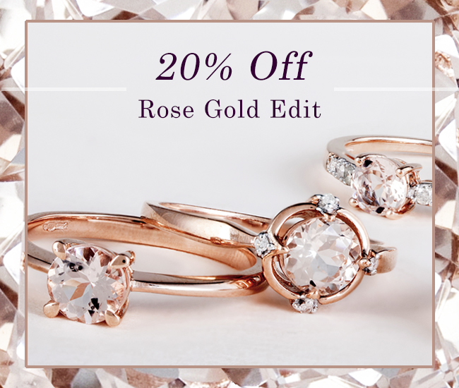 Save on rose gold and rose gold plated jewellery