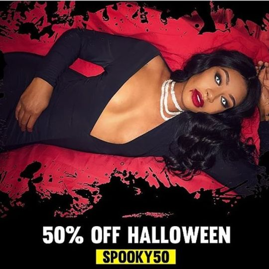 Get 50% off our Halloween collection use promo code spooky50