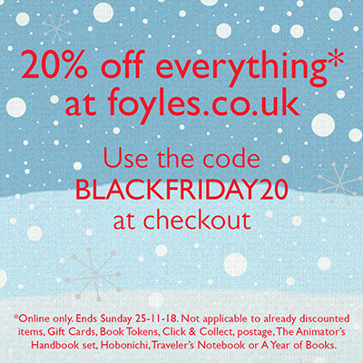 Get 20% off everything on the Foyles website this weekend!