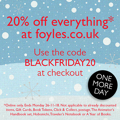 ONE MORE DAY—20% off everything on the Foyles website!