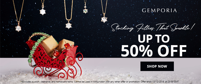 Get Up To 50% Off Stocking Fillers That Sparkle at Gemporia.com