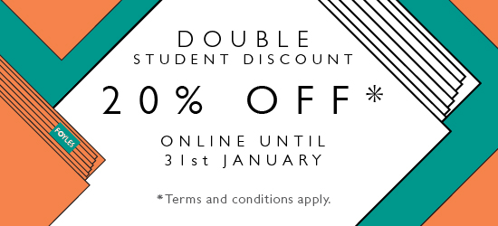 20% discount online for students in January