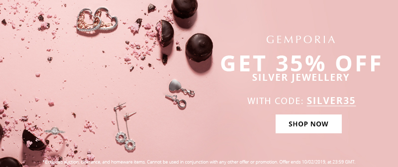 Get 35% Off Silver Jewellery at Gemporia.com